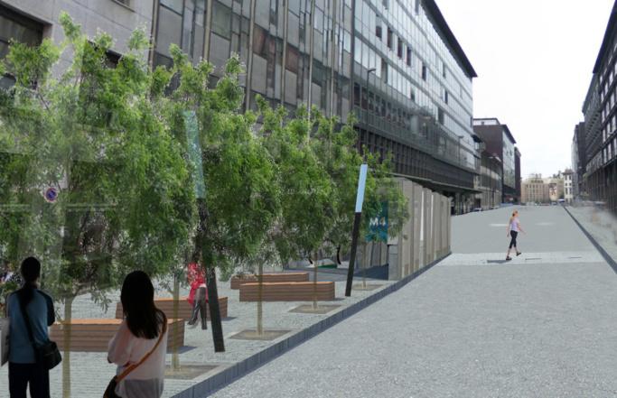 Spazi pubblici, Linea 4 Metro Milano, progetto vincitore